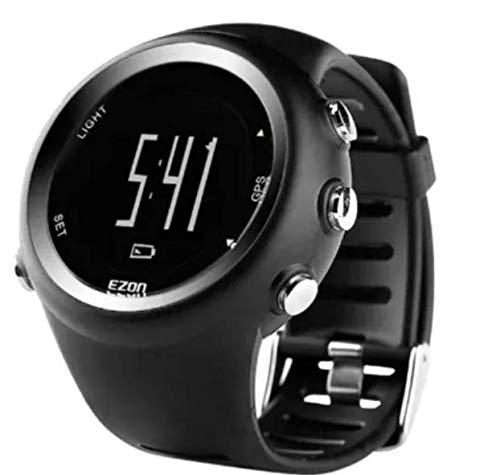 Relógio esportivo digital masculino, relógio de esporte digital com gps, corrida, ritmo de velocidade, distância, calorias, queima, cronômetro, à prova d' água 50m