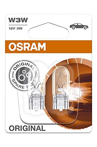 OSRAM Original 12V W3W lampes halogènes auxiliaires 2821-02B en double blister