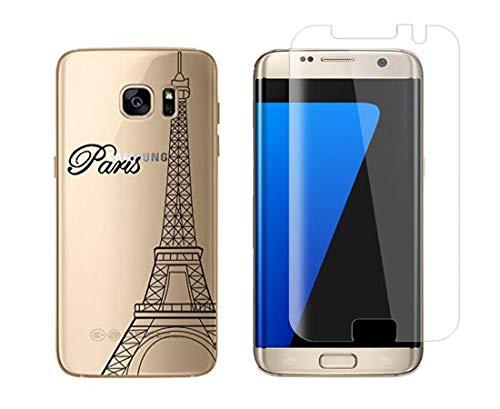 NOVAGO Compatible con Samsung Galaxy S7 Edge (Pack 2 en 1) 1...
