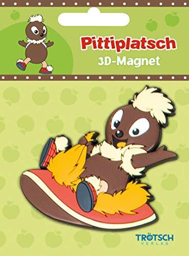 3 D Magnet Pittiplatsch auf Schuh, Sandmännchen, Pitti, Schnatterinchen, Schnatti, Moppi, Sandmann