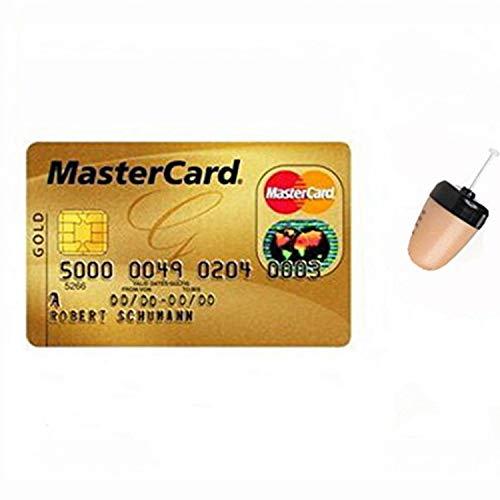 GSM BOX - Auriculares invisibles con tarjeta de crédito, tarjeta VIP, micro espía para la comunicación de la cubierta