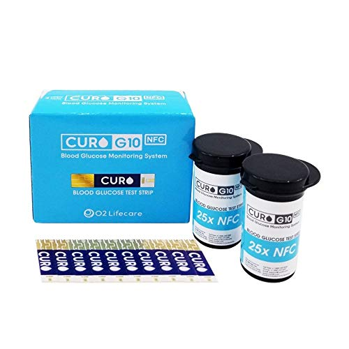 [CUROfit] CURO-G10 Glucose Test Strips : Included Total Glucose Test Strips 100 ea (Device NOT Included)