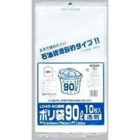 ポリ袋 90L 乳白半透明 0.035×900×1000 200枚 ゴミ袋 福助工業 LD35-90 乳白半透明