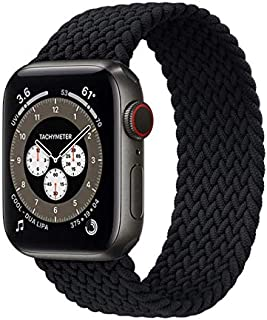 Woven Replacement Band for iWatch 5/4/3/2/1 size 42-44 mm Length 155 mm - Black