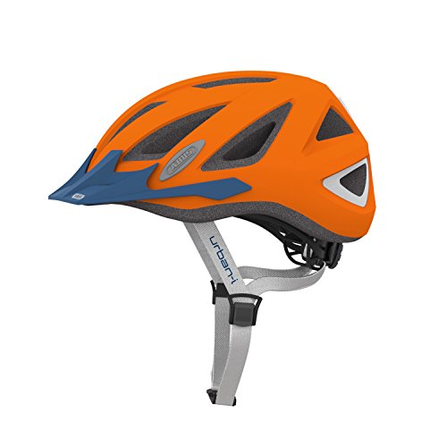 ABUS, Casco ciclismo Urban-I V.2 Zoom, Arancione (Orange), L