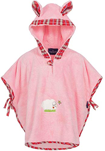 Morgenstern Morgenstern, Badeponcho, 1-3 Jahre (one size), Farbe rosa, Sleepy Sheepy, aus super soft Microfaser