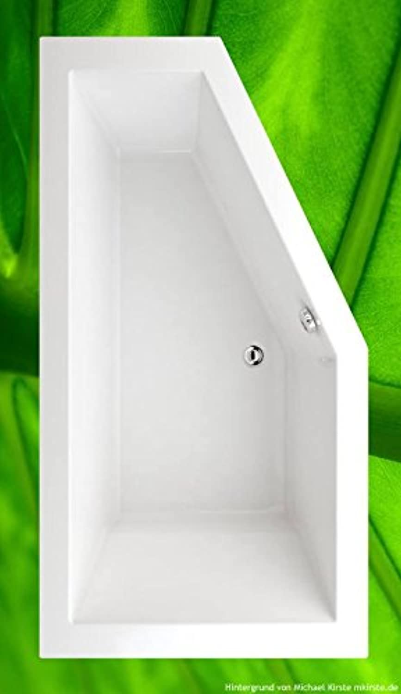Badewanne 170x90 LAGOS Links + Füe + Ablauf + Befestigung