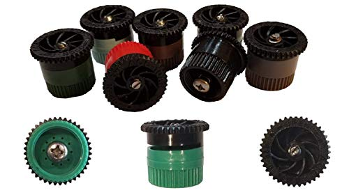 Modtek Replacement Pop UP Sprinkler Heads for RainBird, Hunter, Orbit Pop Up Sprinklers, Sprinkler Color May Vary.(10, 15AN)
