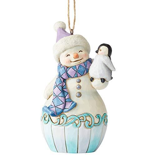 Jim Shore Heartwood Creek Sospensione Babbo Natale con Mini Pinguino, 11.5 cm