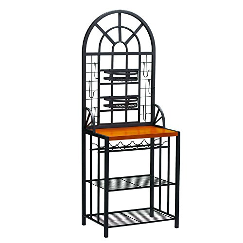 Dome Bakers Rack w/ Wine Bottle Storage - Adjustable Nesting...