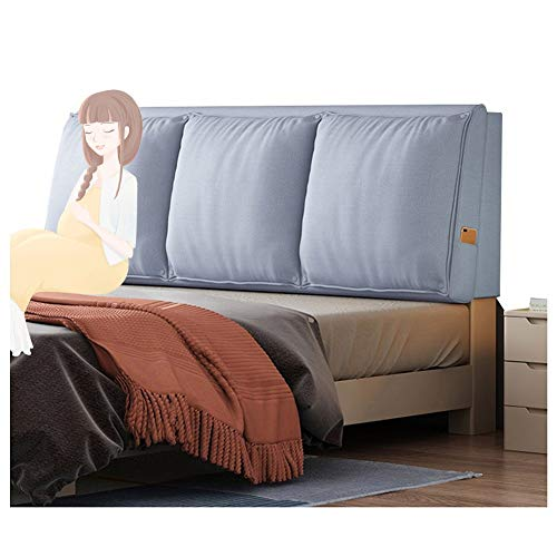 JFya Headboard Bed Back Cushion Reading Backrest Bedroom Decoration Waist Pads Anti-Collapse Linen Fabric, 8 Colors (Color : B, Size : 200CM)