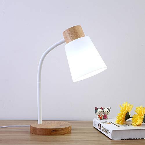 Lievevt Lámpara Escritorio Lámpara Lámpara de Mesa de Madera Maciza, lámpara de Noche del Dormitorio, lámpara de Mesa Decorativa de Trabajo, lámpara de Mesa de Roble (L430 * W150mm)