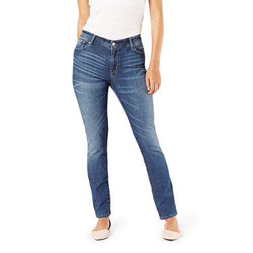 Signature by Levi Strauss & Co. Gold Label Women's Modern Straight Jeans, Gold Cape Town, 4