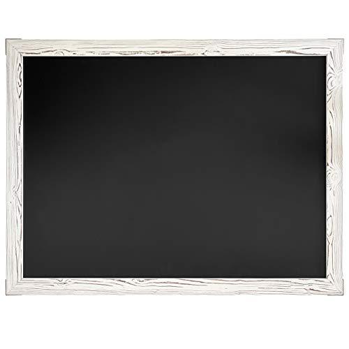 Loddie Doddie Huge Magnetic Chalkboard - 46' x 34.5' White Framed Chalkboard for Wall Decor - Easy to Erase Chalkboard Wood Frame for Kitchen, Framed Magnet Blackboard - Hanging Black Chalkboards