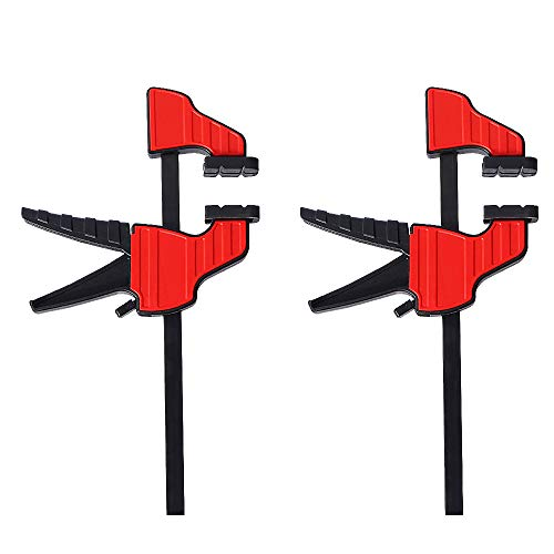 Schraubzwinge Set,10KG Klemme Einhandzwinge Schraubzwingen Klemmzwingen für Holzbearbeitung und DIY-Projekte (2 Stück)