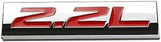 UrMarketOutlet 2.2L Red/Chrome Aluminum Alloy Auto Trunk Door Fender Bumper Badge Decal Emblem Adhesive Tape Sticker