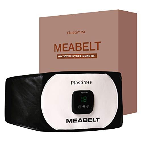 Plastimea Bauchmuskel Gürtel MEABELT PRO 500 Elektrostimulationsgerät EMS-Trainingsgerät – Muskelaufbau & FETTABBAU – ABNEHMEN am Bauch – STRAFFUNG & VERFEINERUNG – Hilfe bei VERSPANNUNGEN !