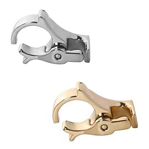 Zigarettenspitze Ring, 2 Stück Raucher Haltering, Durable Vergoldete Legierung Männer & Damen (Gold und Silber)