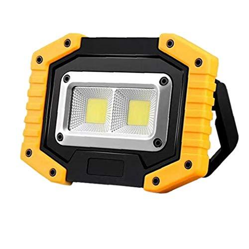 Linterna Lámpara De Césped Led De Trabajo Multi-función De Luz Reflector Al Aire Libre Amarillo Proyector Portable
