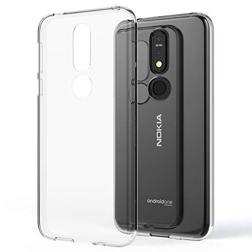 NALIA Hülle kompatibel mit Nokia 7.1 (2018), Soft Handyhülle TPU Silikon Hülle Cover Crystal Clear, Dünne Durchsichtige Etui Handy-Taschen Schutzhülle, Transparent Phone Back-Cover Bumper