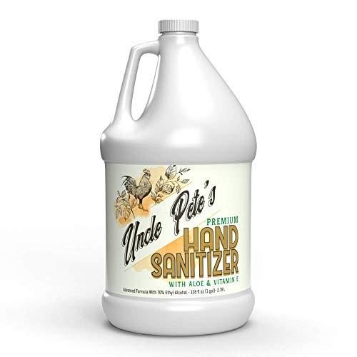 Uncle Pete's Premium Hand Sanitizer with Aloe and Vitamin E - 1 Gallon (128 Fl Oz)