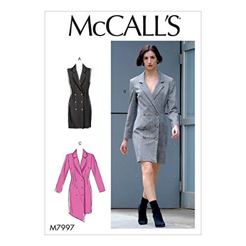 McCall's Sewing Pattern-M7997E5-Patron de couture pour robes de femme, papier, blanc, divers