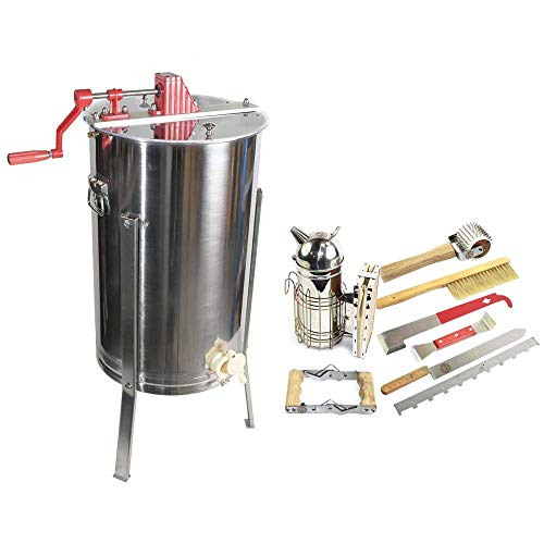 Goodland Bee Supply 2 Frame Honey Extractor with Complete Beginners Bee Hive Tool Kit - GL-E2-TK1