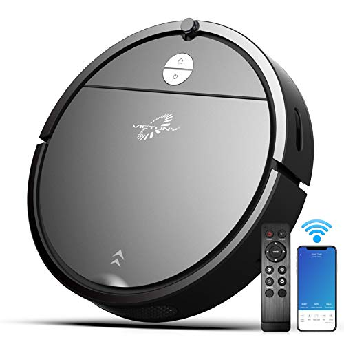 Robot Vacuum, VICTONYUS 1650PA Robotic Vacuum Cleaner with Self-Charging, 360° Smart Sensor Protectio, Multiple Cleaning Modes Vacuum Best for Pet Hairs, Hard Floor & Medium Carpet