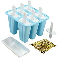 6-Pieces Rabkoo Silicone Popsicle Molds