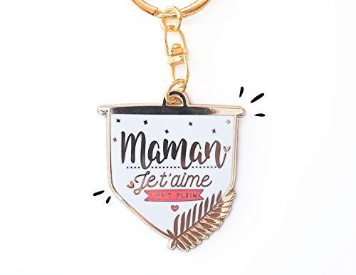 Porte-clés Maman Je t'aime Tout Plein | Cadeau pour Maman,...