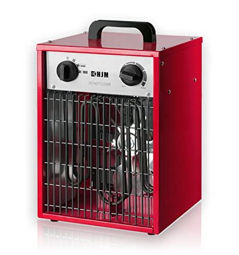 HJM CT005 Calefactor INDUSTRIAL de alta potencia, 3300 W, ROJO