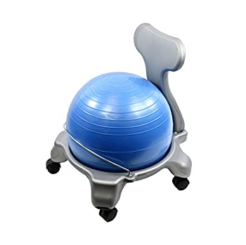 Cando-30-1795 CanDo Plastic Mobile Ball Chair Child Size 15