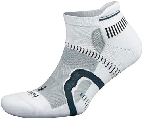 Balega Hidden Contour Socks For Men and Women 1 Pair White Grey Large product image