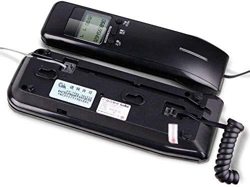 Teléfono Teléfono para el hogar Montado en la pared Vintage Teléfono / Retro Teléfono fijo Funcional Rotary Dial y Classic Metal Bell Teléfonos de línea fija Home Office Hotel Identificador de llamada