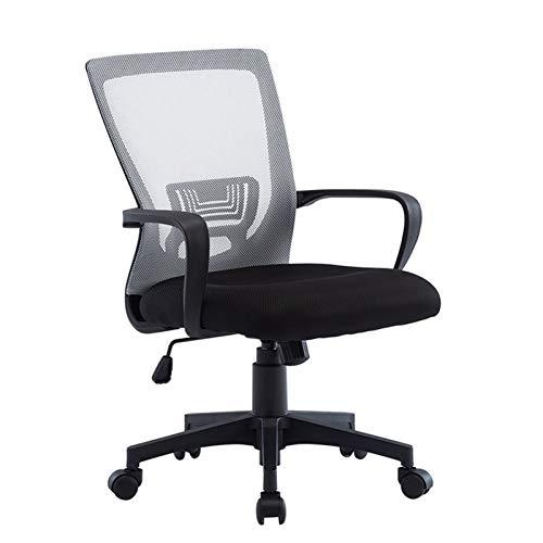 Silla de mesa de malla económica Silla de escritorio 360 ° Silla de computadora ajustable de altura giratoria con asiento de malla negro (Color : A)
