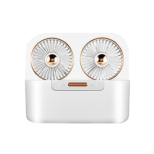 Portable air Cooler Mini Evaporative Cooler air Cooling fan and Humidifier,4000mAh Built-in Battery,Brushless dc Motor,Double fan Blade air Duct Technology,Is a Good air Conditioner Companion