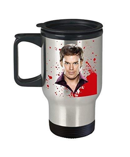 Maureen52Dorothy Showtime Dexter Becher (Reisebecher), 414 ml, Showtime Dexter Kaffeetasse – Dexter Zubehör – Dexter Merchandise – Dexter Neuheit Geschenke für Fans von Showti