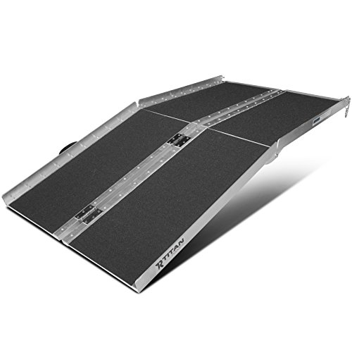 Titan Ramps 5' ft Aluminum Multifold Wheelchair Scooter Mobility Ramp Portable 60' MF5