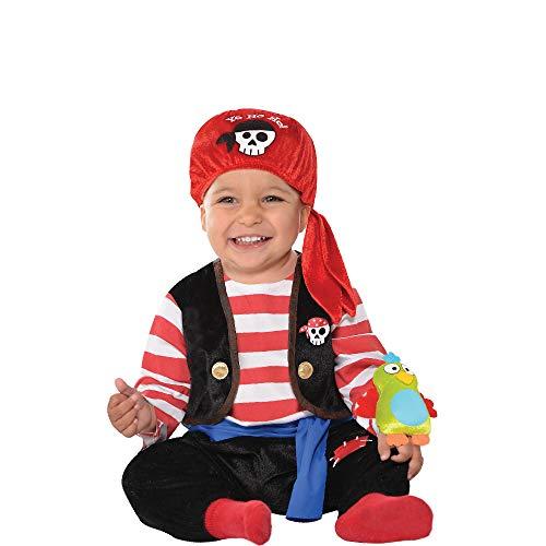 amscan Costume de petit prisonnier avec chapeau et manches effet tatouage - 12-24 mois - 846805-55