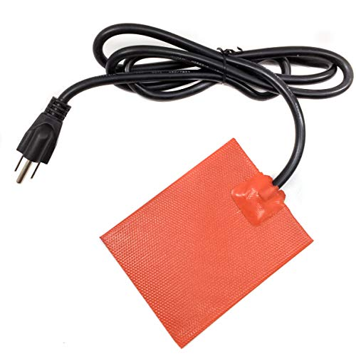 ENGINE BLOCK HEATER Pan 3M stick on Pad (120V U.S.A. / Long CORD) Designed for: 4 Cylinder Engines by Z-TOOL HEATER TEC.