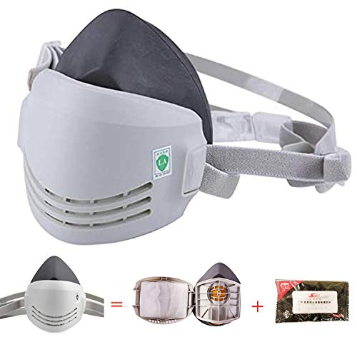 RANKSING: Strong-AX Reusable Dust Half Respirator, Reusable Standard Respirator with a Replaceable Parts for Painting, Machine Polishing, Welding and Other Work Protection