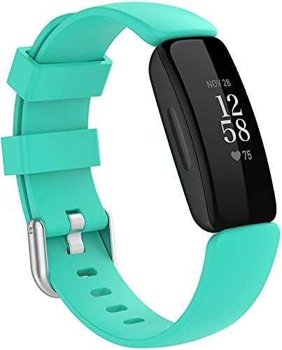 Classicase Repuesto de Correa de Reloj de Silicona Compatible con Fitbit Inspire2, Caucho Fácil de Abrochar para Relojes y Smartwatch (Pattern 3)
