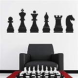 JXWH 30 X 85 CM Salle D'échecs Decal Chambre Décoration Stratégie À L'intérieur...