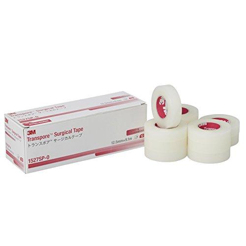 3M サージカルテープ トランスポア 12.5mm幅x9.1m 12巻 1527SP-0