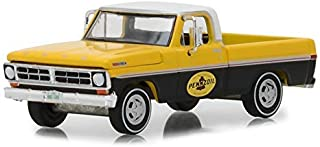 Greenlight 1972 Ford F-100 Pickup Truck Pennzoil with White Top Running on Empty Series 6 1/64 Die-cast Model Car, Yellow/Black
