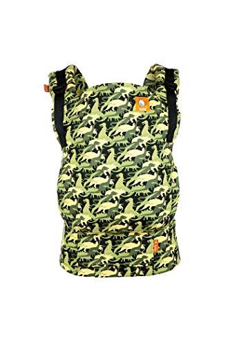 Tula Standard TBCA8A39 Camosaur - Marsupio ergonomico per neonati da 7 a 20, 4 kg o da 3 kg con cuscino