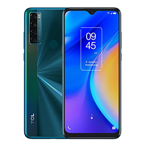 TCL 20 SE 6.82' Unlocked Cellphone, 4GB RAM + 128GB ROM, US Version Android 11 Smartphone with 48MP Rear AI Quad-Camera, 5000mAh Big Battery, Dual Speaker, OTG Reverse Charging Octa-Core, Aurora Green