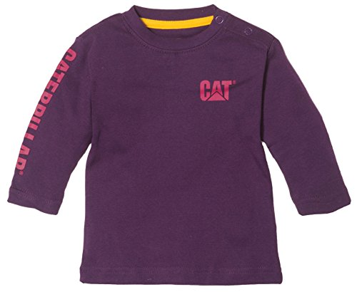 Caterpillar Infant Trademark Banner Long Sleeve T-Shirt - Girls - 12 Months - BlackBerry