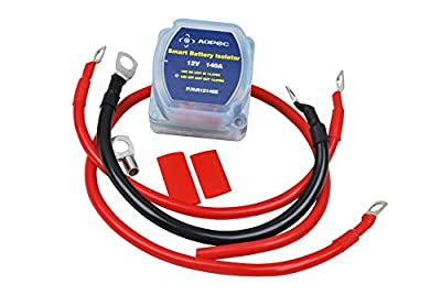 Aopec Original 12V 140Amp Dual Battery Isolator Switch Kit For ATV, UTV, 4WD, Rzr, RV, Car, Marine ETC.