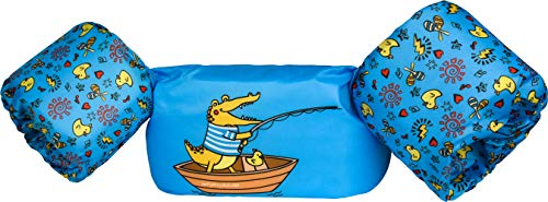 Dark Lightning Baby Floats for Pool,Kids Life Jacket from 30 to 50lbs, Compatible 20-30 Pounds Infant/Baby/Toddler, Swim Vest with Arm Wings for Boys and Girls (Fishing Crocodile - Boat)